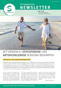 Newsletter-Titelseite im Juli 2014
