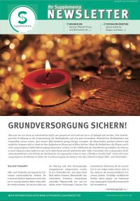 Newsletter-Titelseite im Dezember 2014