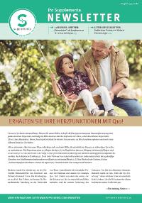 Newsletter-Titelseite im Mai 2015